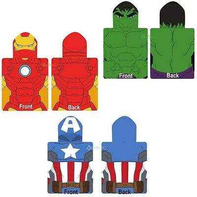 Marvel Avengers Iron Man Amerikanisch Kinder Bade Poncho Kapuzen Handtuch