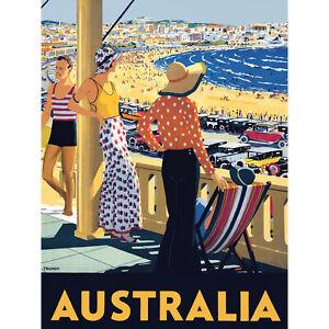 Australia-Travel-Bondi-Beach-Sea-Sun-Large-Wall-Art-Print-18X24-In