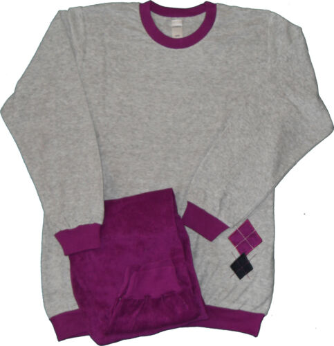Schlafanzug M Damen Pyjama Dessinauswahl 40-42 Winterpyjama FROTTEE