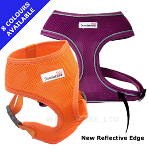 Doodlebone-Dog-Puppy-Harness-AirMesh-Padded-Soft-Walking-Vest-5-Sizes-Reflective