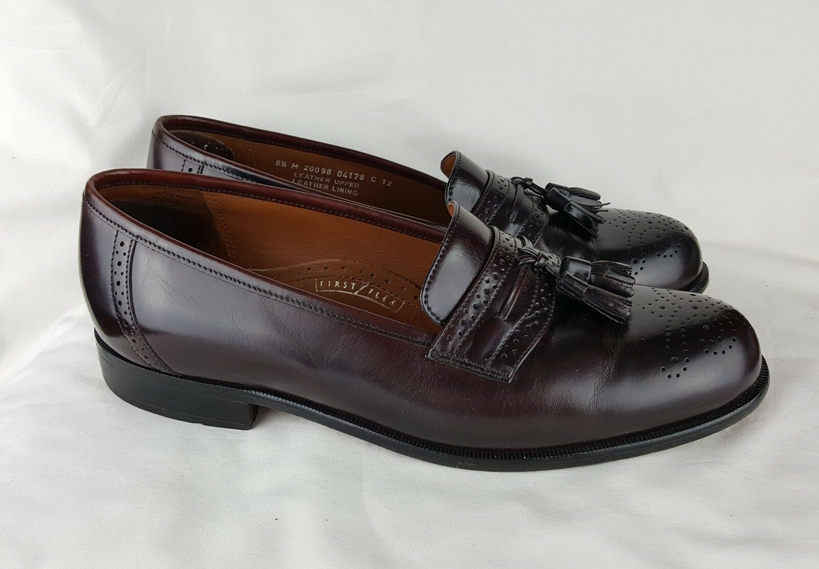 Bostonian Classic 8.5 Tassel Loafer Brown Wingtip First Flex Leather
