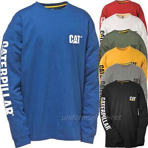Caterpillar T shirt Men CAT Long Sleeve Graphic Logo Tee T- Shirts ...
