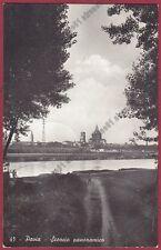 PAVIA CITTÀ 94 Fiume TICINO Cartolina REAL PHOTO viaggiata 1944