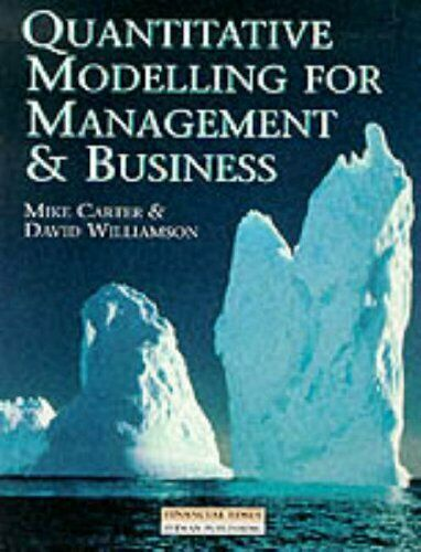 Quantitative Modelling For Management ... by Carter, Dr Mike Mixed media product