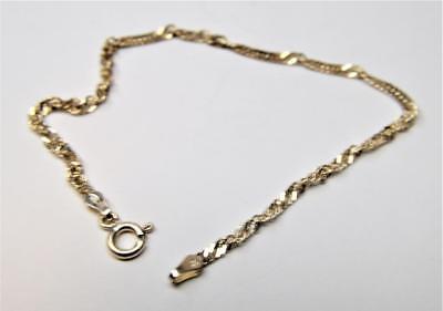 Fine Jewelry Grabado 925 Ibb Italia Plata De Ley 18.4cm Retorcido Cadena Forma Pulsera 1.78g Commodities Are Available Without Restriction