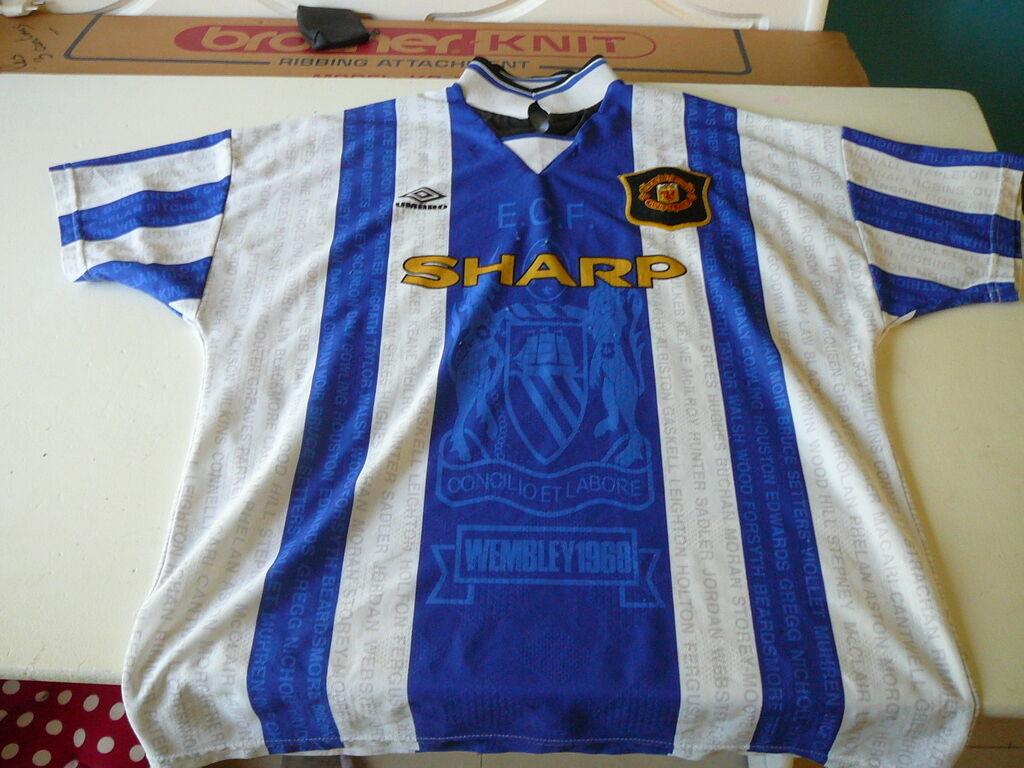 Fußballtrikot Manchester United sharp Sammler Trikot XL Umbro vintage