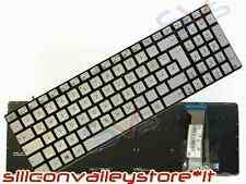 Tastiera Italiana Retroilluminata Silver per Asus N551 N551VW N551JM N551JQ