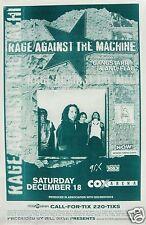 "RAGE AGINST THE MACHINE ""BATTLE OF LOS ANGELES TOUR"" SAN DIEGO CONCERT POSTER"