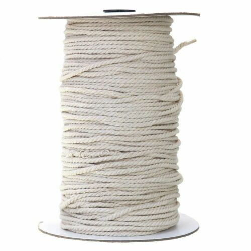 White Cotton Twisted Cord Rope Bohemian Craft Macrame String Handmade Decorative