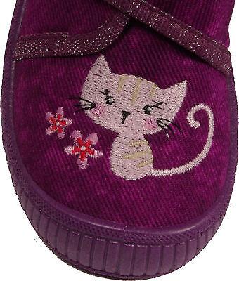 SUPERFIT Schuhe Hausschuhe violett (AMETHYST) Glitzer Textil Klettverschluss NEU