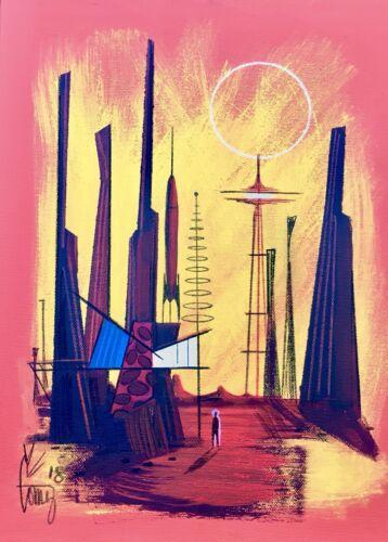 EL GATO GOMEZ RETRO PRINT SCI-FI OUTER SPACE MID CENTURY MODERN MARTIAN MARS 60S