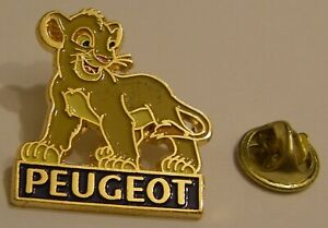 LION-KING-YOUNG-SIMBA-cc-PEUGEOT-DISNEY-vintage-PIN-BADGE