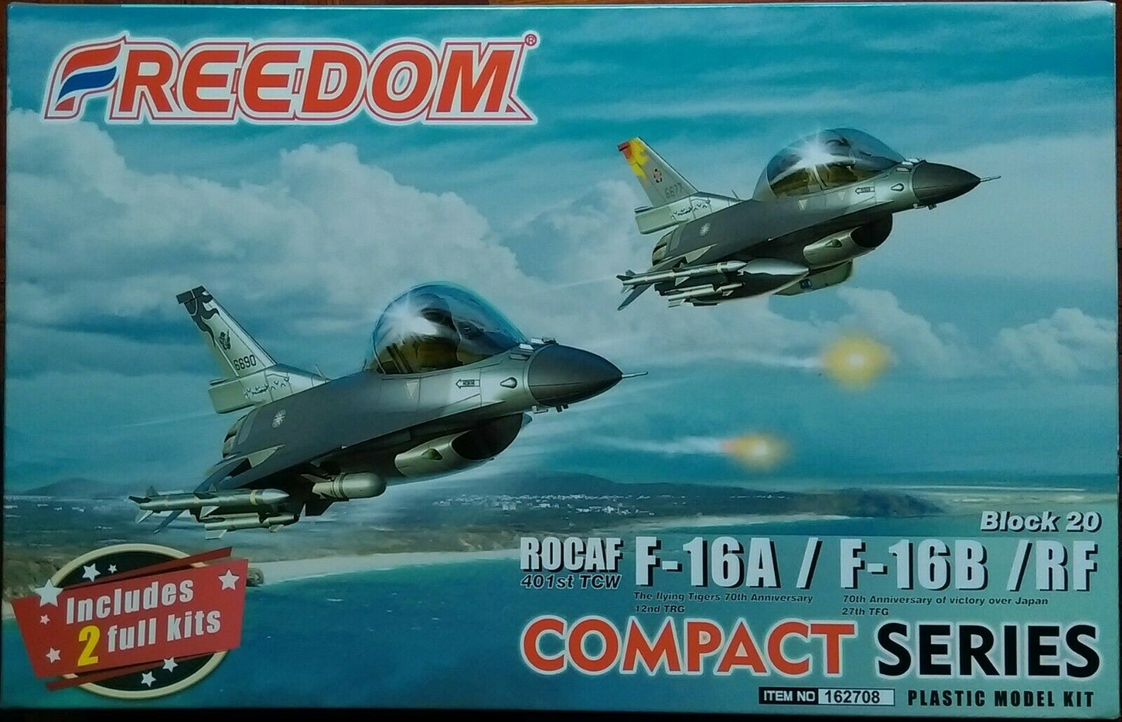 Freedom Models Compact Seri ROCAF 7th FTW 40th Anniversary Northrop F-5E//F-5F