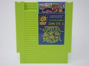 Super Games 500 in 1 Nintendo NES Cartridge Multicart - TMNT MUTAGEN GREEN