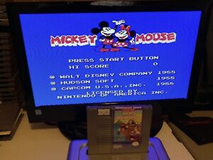100-WORKING-NINTENDO-NES-SUPER-FUN-Game-Cartridge-DISNEY-MICKEY-MOUSECAPADE