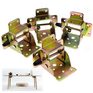 4X-Iron-Locking-Folding-Table-Chair-Leg-Brackets-Hinge-Self-Lock-Foldable-Hinges