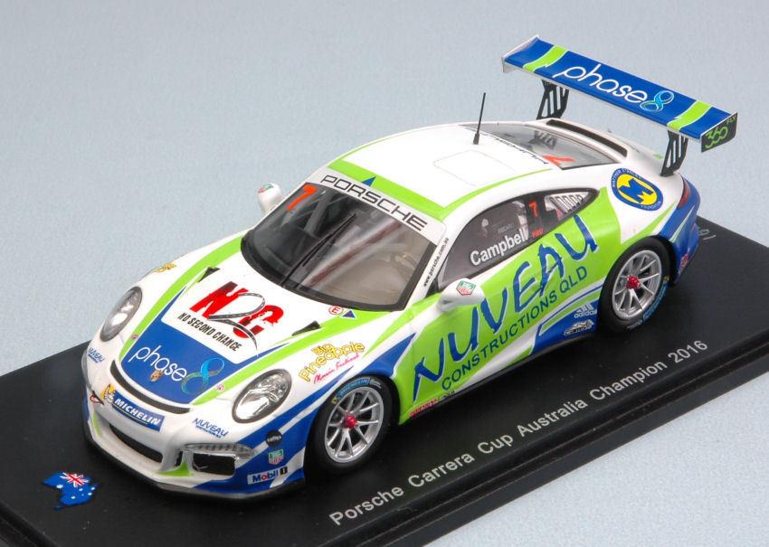 Porsche carrera cup australien champion 2016 matt campbell 1 43 modell spark - modell