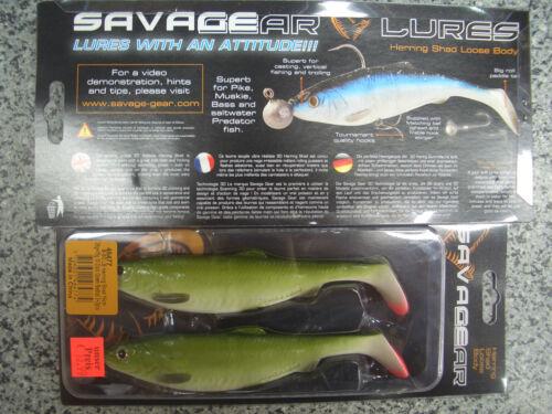 Savagegear Herring Shad B SG LB 16 cm 28g+15g Dark Green Redtail Kunstköder