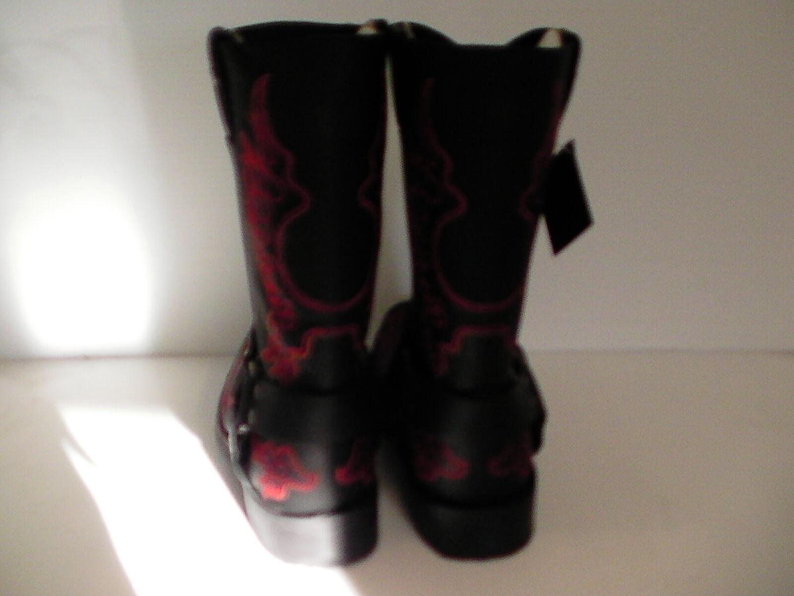 Mens Mens Mens Harley Davidson boots Slayton D93141 leather black oil resisting size 9 us 2f8968