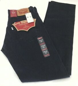 Levi-039-S-Jeans-511-Slim-Vintage-Navy-Blau-Slim-Huefte-zum-Knoechel-Stretch-Herren-74-50