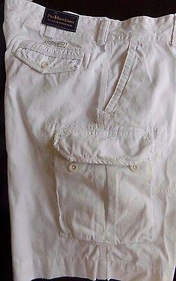 NWT Polo Ralph Lauren WHITE Gellar Fatigue Cargo Shorts Sz 42T Big & Tall