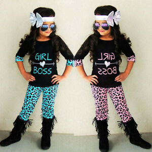 2PCS-Toddler-Kids-Baby-Girls-Outfits-T-shirt-Tops-Leopard-Long-Pants-Clothes-Set