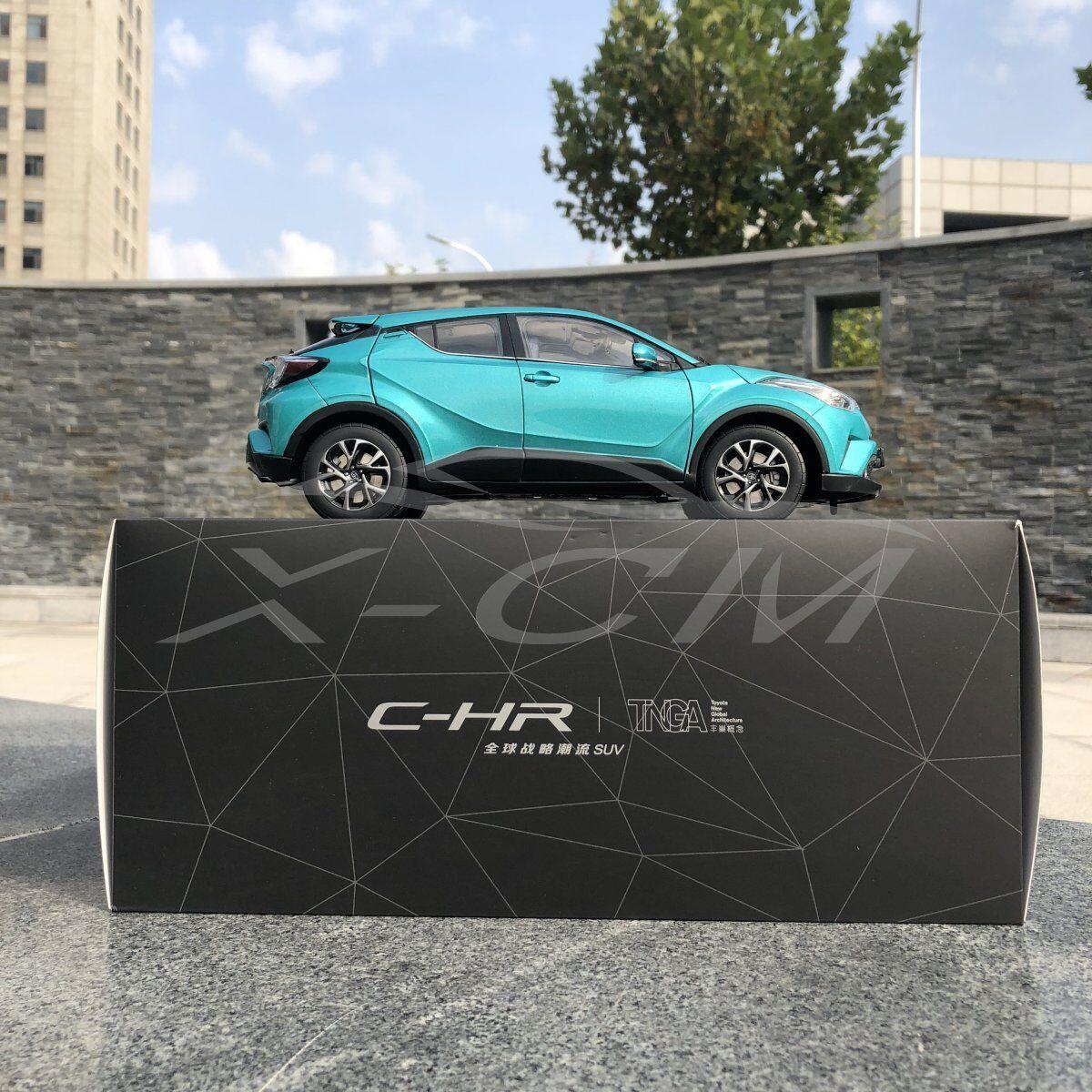 Diecast Modèle De Voiture Toyota C-HR CHR 1 18 (vert) + eau