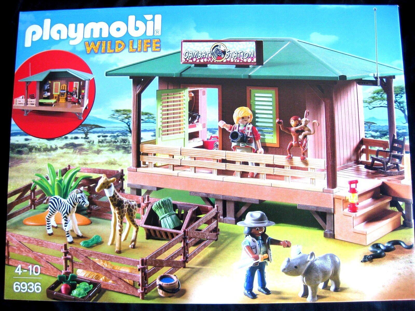 Playmobil Wild Life  Art. Nr. 6936 Rangerstation mit Tieraufzucht    Sale Online