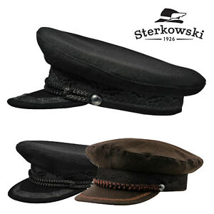 c1425bef484349 Sterkowski KASHUBIA Wool Officer's Peaked Cap Traditional Fisherman ...