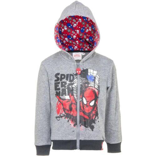 Boys Sweat Jacket Spiderman Jacket Casual Jacket Blue Grey 98 104 116 128 #270