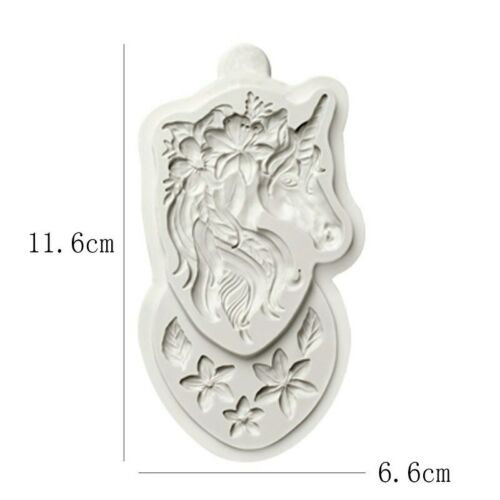 Unicorn Head Flower Silicone Mold Diy Baking Chocolate Candy Resin Clay Jewelry