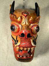 Nepal - Dragon wood mask / Máscara dragón de madera / Holzmaske Drachen