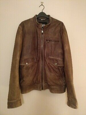 wholesale online famous designer brand online for sale D&G, Dolce and Gabbana mens brown leather jacket with sherling collar | eBay