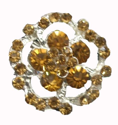Calidad Chaton Diamante Forma Redonda Broche Broche Pin Bouquet Boda nupcial