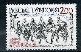ANDORRE-Fr-1981-yv-293-EUROPA-neuf