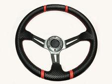 13.5 Steering Wheel Polaris RZR Can-Am Maverick Deep Silver Carbon Red Stripes