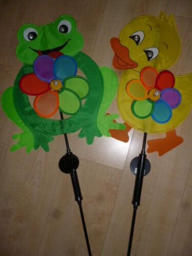 2-er Set Windrädchen,LED,Windspiel,Gartendeko,Windmühle,Gartenstecker,Garten