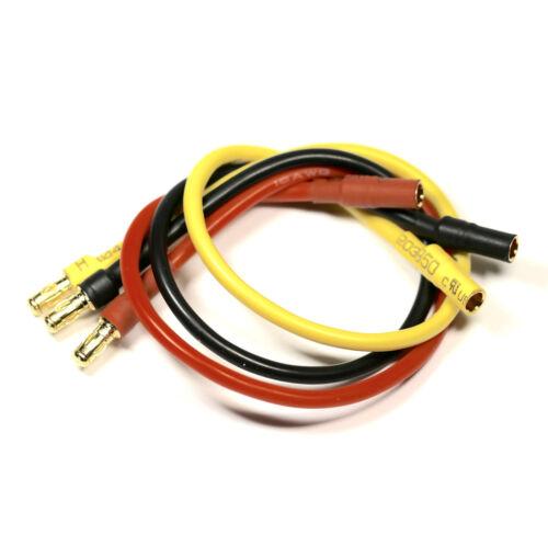 12x Stück ESC Brushless Motor Verlängerungskabel 3,5mm Stecker Kabel 20cm 16AWG