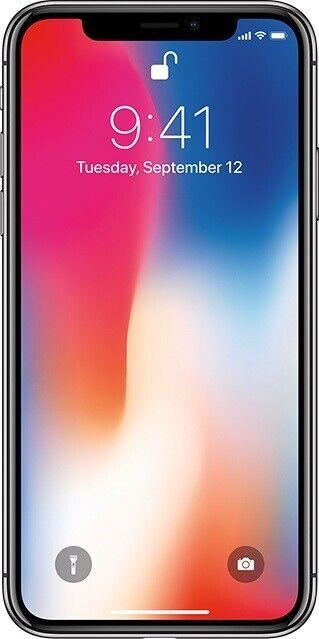 iPhone X, 64 GB, hvid
