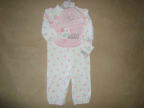 Socks /& Bib~NEW WITH TAGS Cap Carter/'s Baby Girls 9 Months 4 Piece Set~Layette