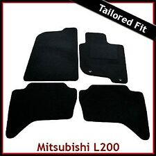 Mitsubishi L200 Mk4 2006-2015 Tailored Fitted Carpet Car Floor Mats BLACK