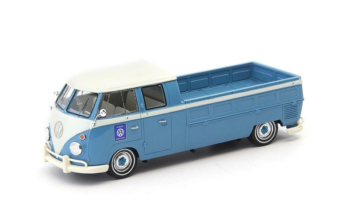 Vw t1 doppelkabine langpritsche  Blau  von 1961 (autocult 1 43   ac07008)