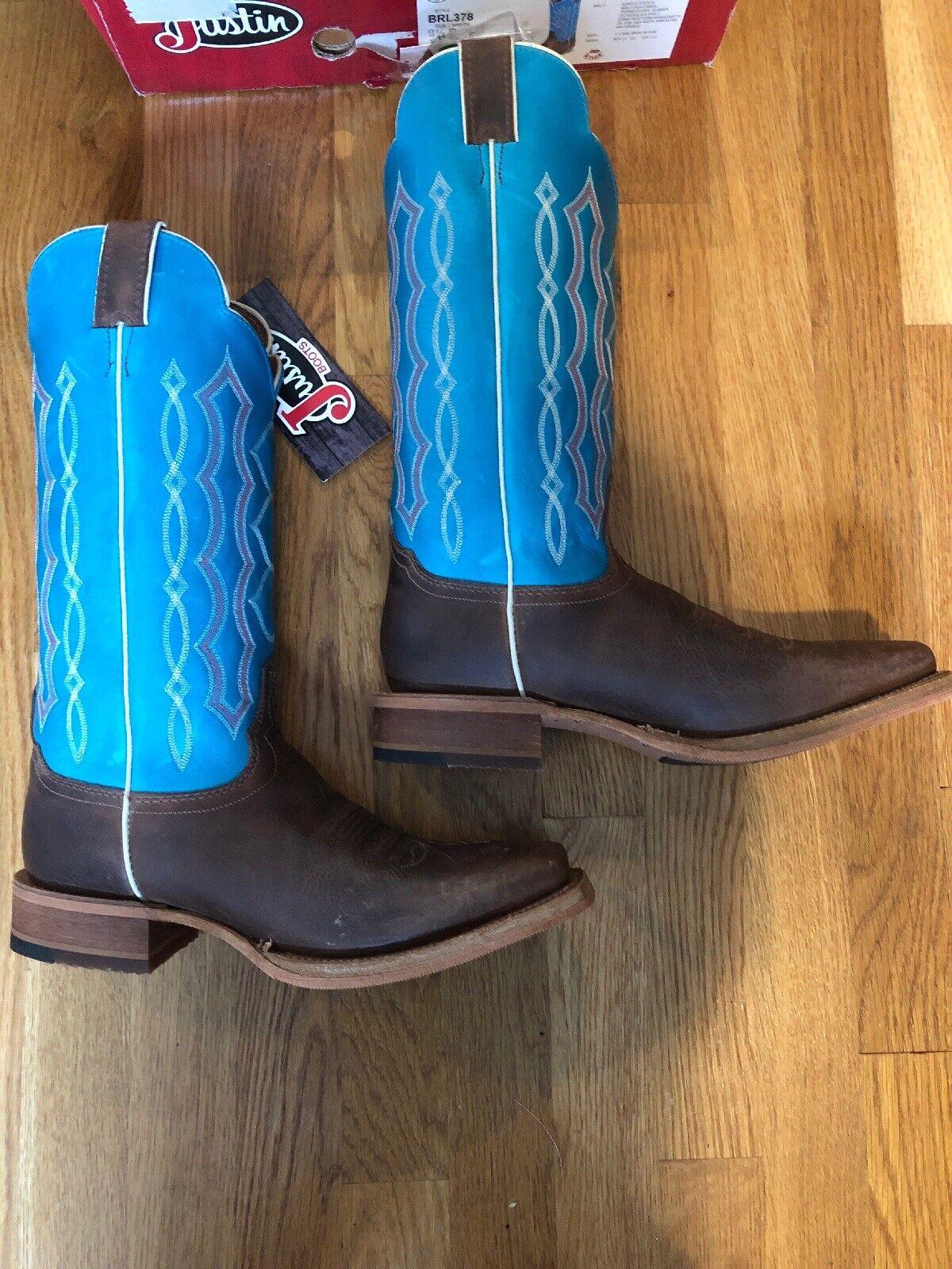 Nuevas botas Justin Katia Chocolate occidental para mujer 9 1 2 B -