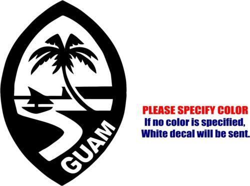 "SEAL OF GUAM JDM Funny Vinyl Decal Sticker Car Window Bumper Laptop Tablet 7/"""