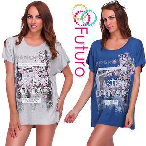 Stampa grafite cinereo Blu 16 blu Charming cappuccino 20 ecru Size T Fb266 Flower scuro Top nero London Lady's beige shirt Over Bridge UTBAYU
