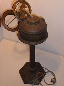 47cm vintage ancien LAMPE cuivre PETROLE lamp copper ALTE ...