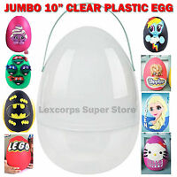 Giant Jumbo 10 Plastic Egg Youtube Surprise Playdoh Clear With Removable Handle