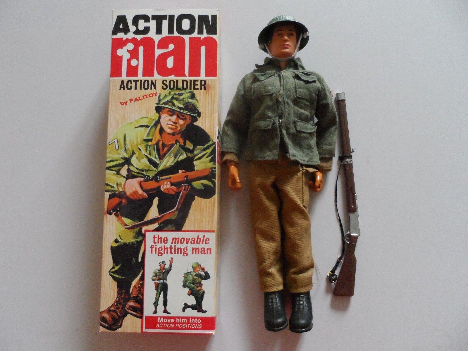 Vintage Acción Man 1964 soldado en 40TH Aniversario Caja.