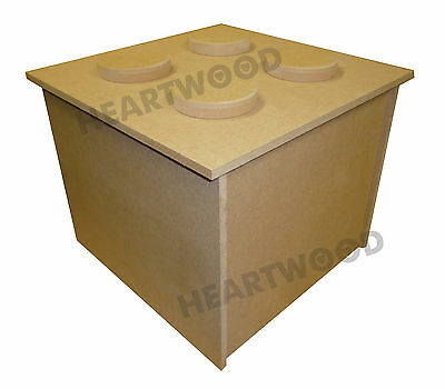 BUILDING BLOCK TOY/STORAGE BOX IN MDF - 500mm x 300mm x 300mm