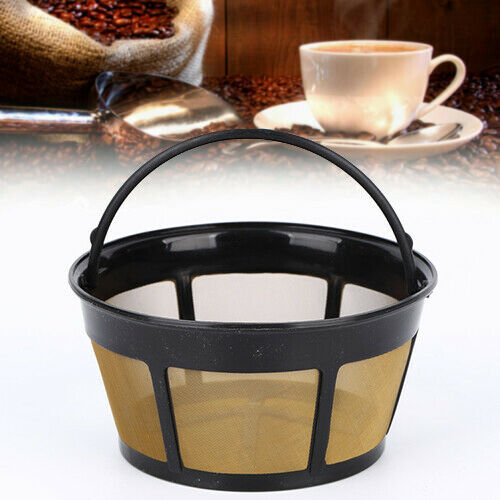 8-12//10-12 Cup Coffee Filter Basket Style Reusable Stainless Steel Cylinder Mesh